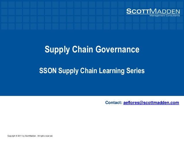 Supply Chain Governance
