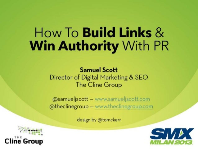 How to Build Links and Win Authority With PR
