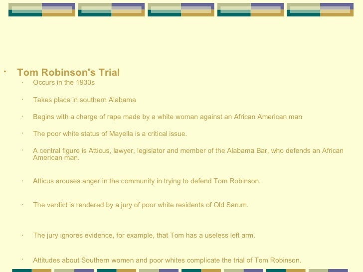scottsboro vs tom robinson The trial aspect of tkm is loosely related to the scottsboro whats the different between scottsboro trials and the trial to prove tom robinson's.