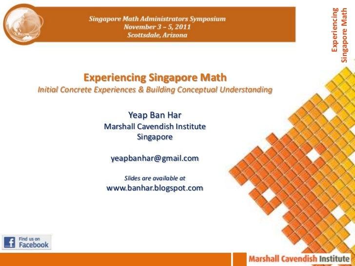 Singapore Math Administrators Symposium Scottsdale