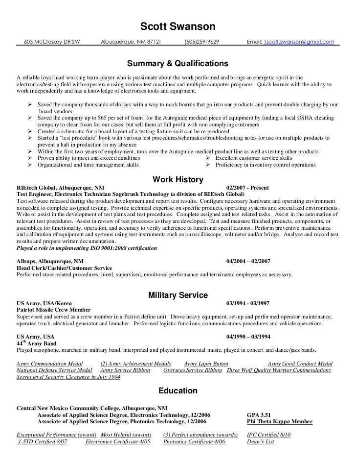 electronic technician resume cbuild technician resumeelectronic technician resume examples electronics technician resume samples resume objective examples