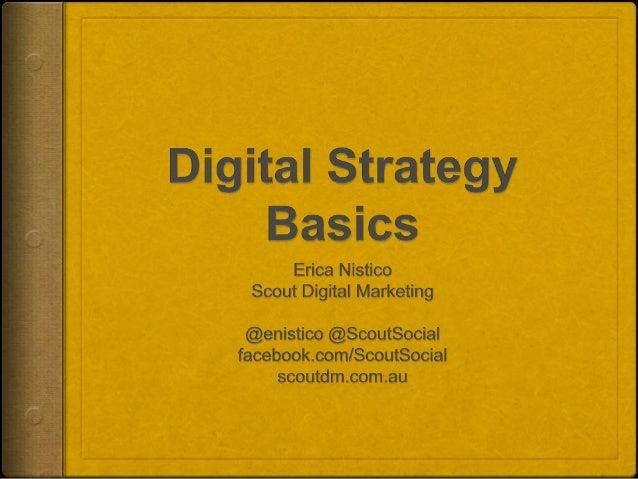 Digital Strategy Basics