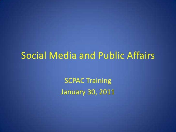 SCPAC Training January 30 2011