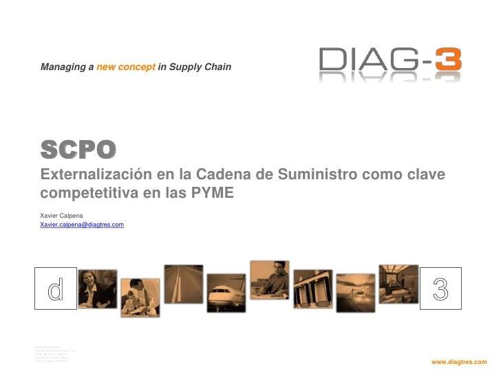 SCPOExternalización en la Cadena de Suministro como clave competetitiva en las PYME<br />Xavier Calpena<br />Xavier.calpen...