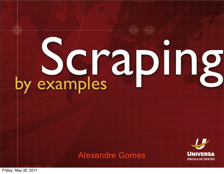 Scraping by examples