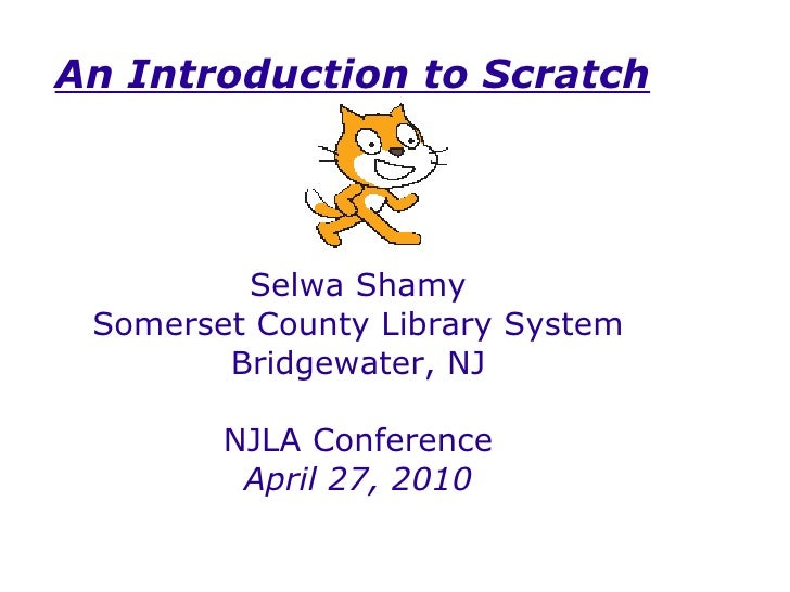 Scratch Demonstration - NJLA Conference, 2010