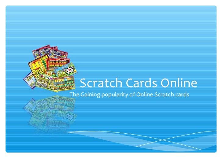 Scratch cards online