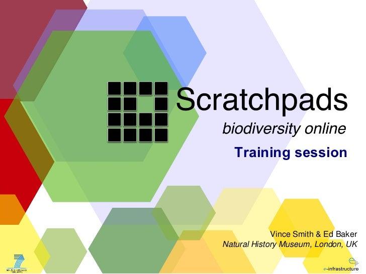 Scratchpad training