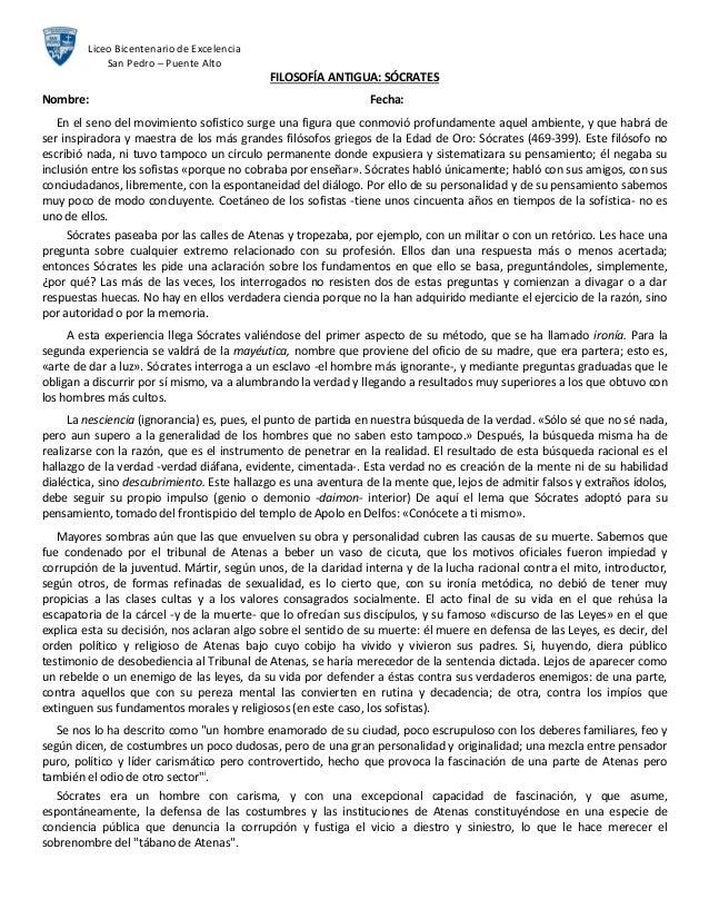 Liceo Bicentenario de Excelencia             San Pedro – Puente Alto                                            FILOSOFÍA ...