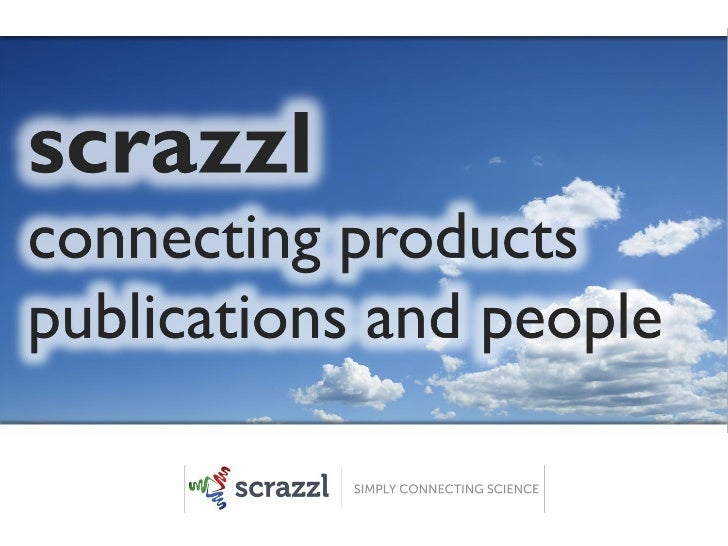 scrazzlconnecting productspublications and people