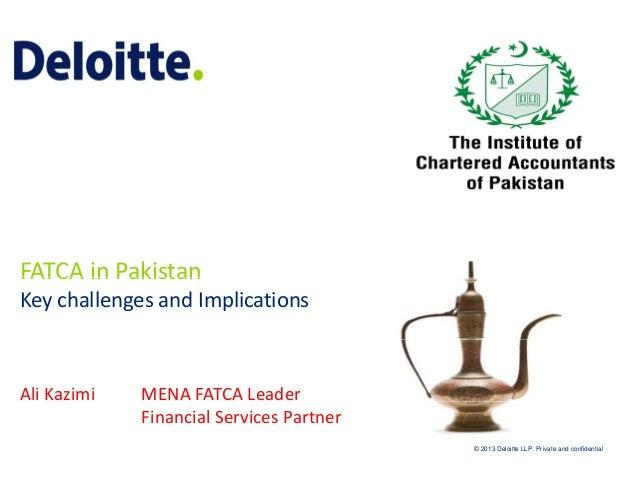 FATCAinPakistan FATCA in Pakistan KeychallengesandImplications  AliKazimi  MENAFATCALeader FinancialServicesPar...