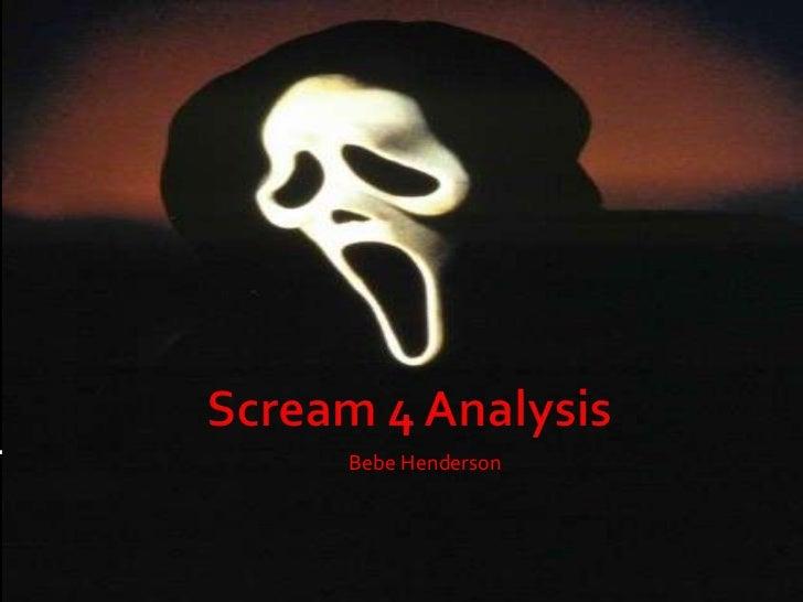 Scream 4 analysis