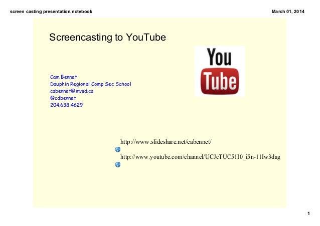 Screen casting presentation