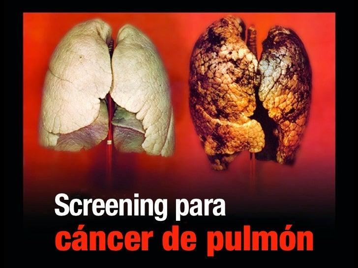 Screening para cáncer de pulmón