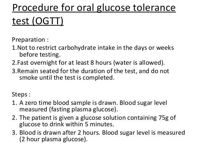 Oral Glucose Tolerance Test Procedure 52
