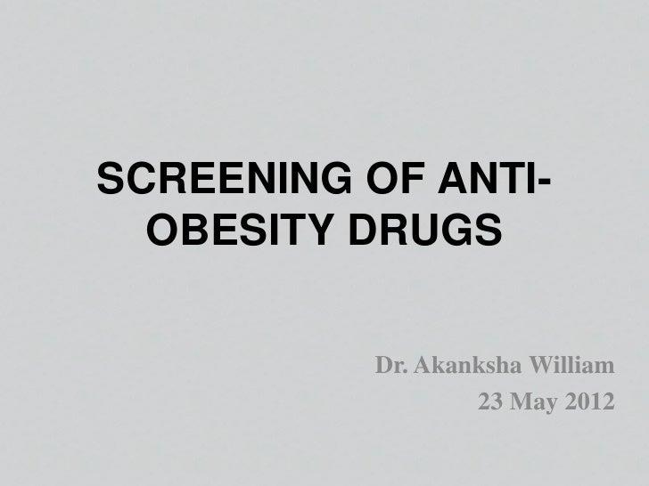 Screening of antiobesity 23may2012