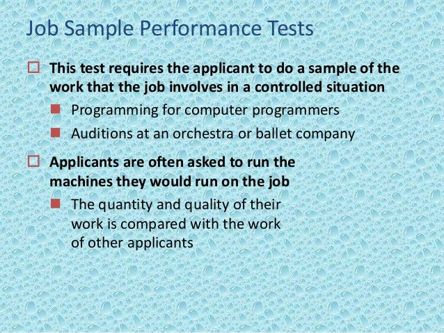 essay test for employment Many employers administer pre-employment tests to determine if an applicant meets the minimum qualifications for a position these tests also predict how an applicant will perform within a given .