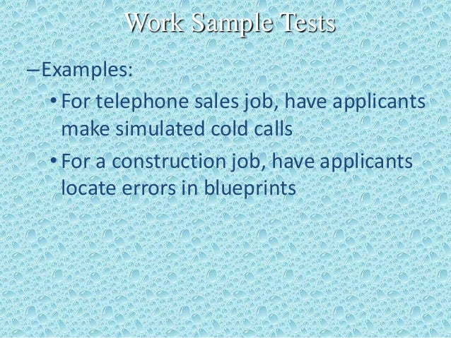 employment test essay Employment testing essay custom essay the case of lanning versus septa in chapter 6 of your walsh text addresses the legalities of employment screening exams during the selection process for this assignment, summarize the important issues in this case and the outcome.