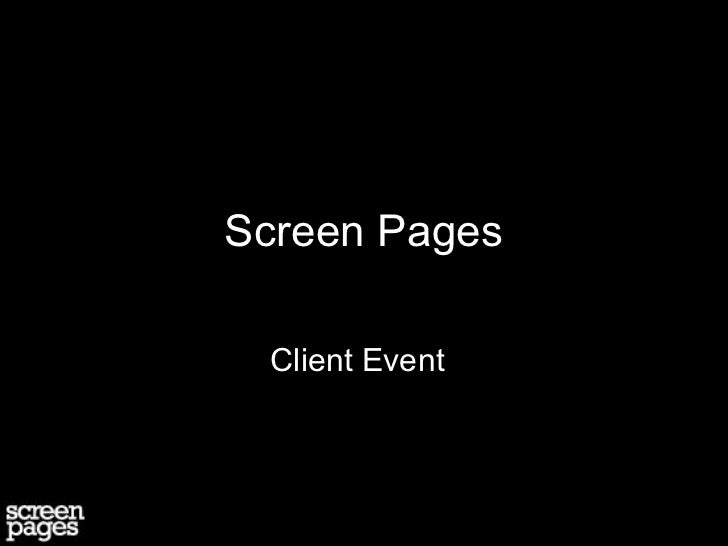 Screen Pages Introduction
