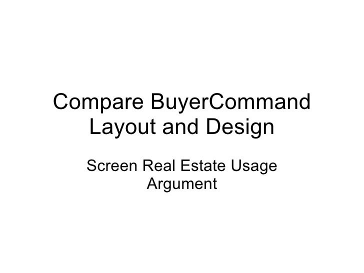 Shop eBay More Effectively with BuyerCommand<br />Screen Resolution Utilization Argument<br />