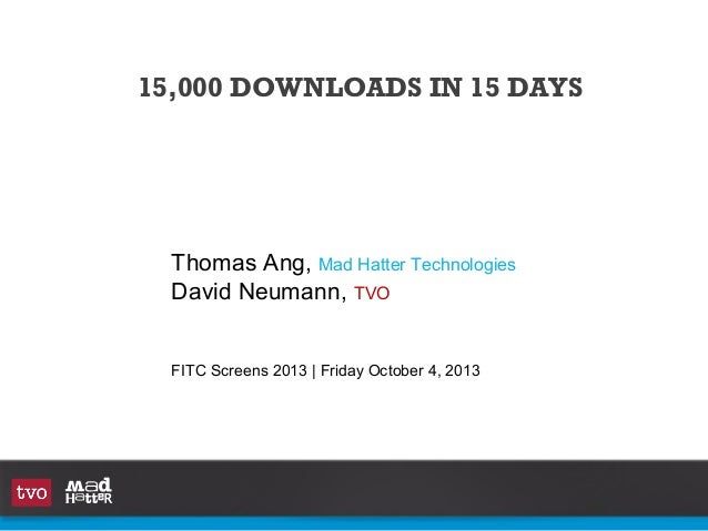 15,000 downloads in 15 days with David Neumann and Thomas Ang