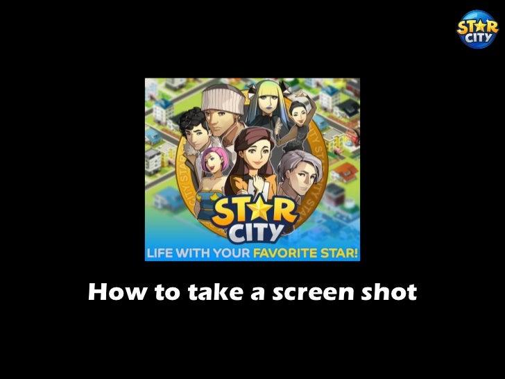 How to take a screen shot