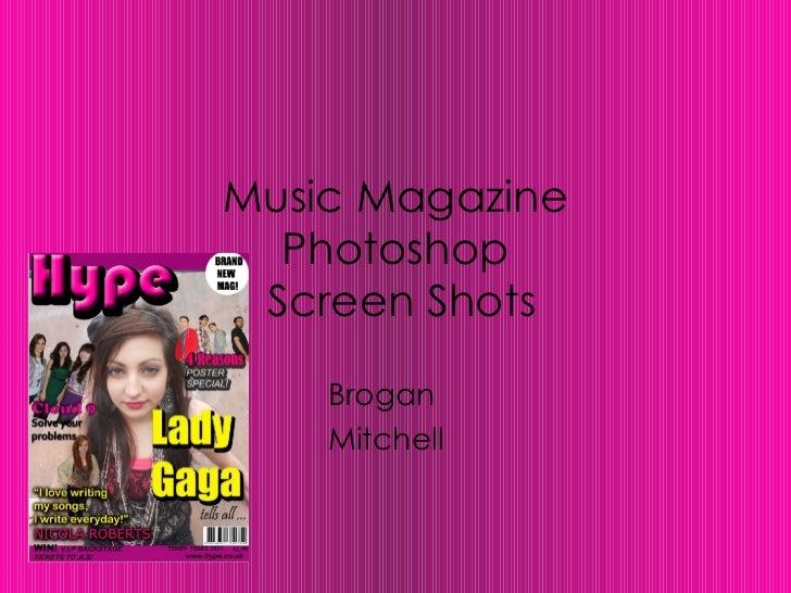 Music Magazine Photoshop  Screen Shots Brogan  Mitchell