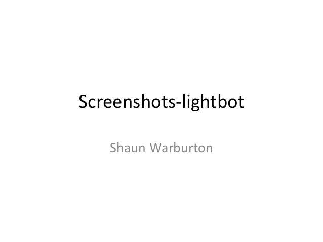 Screenshots lightbot
