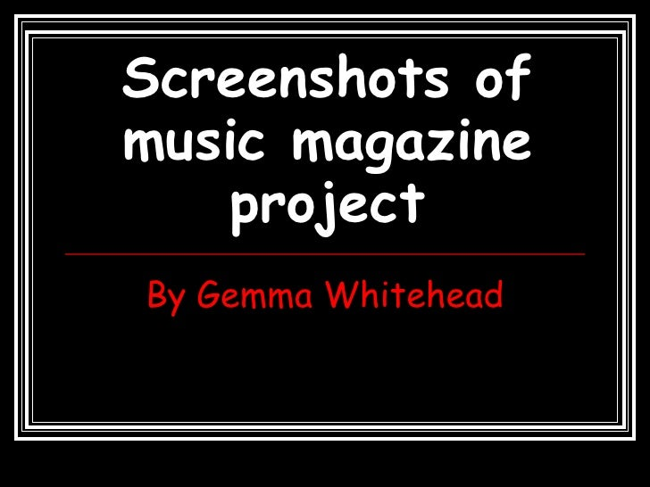 Screenshots Of Music Magazine Project