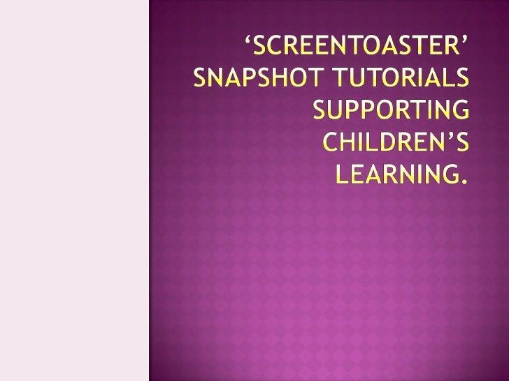 Screen Toaster' Presentation