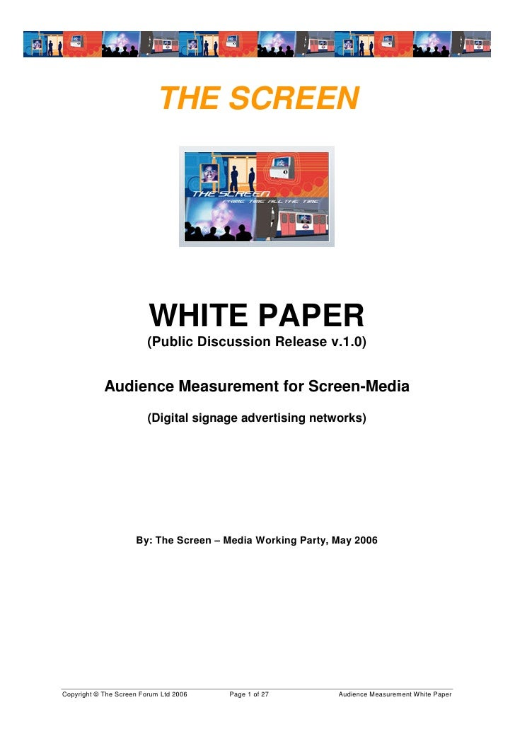 digital signage research paper According to london-based research firm futuresource consulting why projection the new technology of flat panel white paper laser projectors in digital signage.