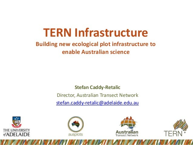 TERN Infrastructure Building new ecological plot infrastructure to enable Australian science  Stefan Caddy-Retalic Directo...