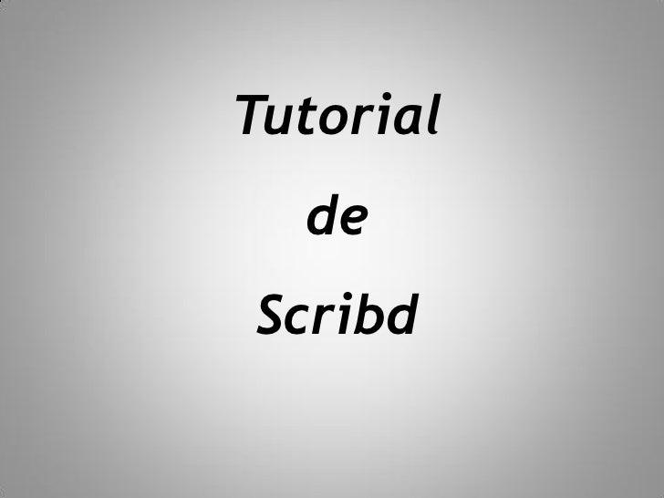 Tutorial   de Scribd
