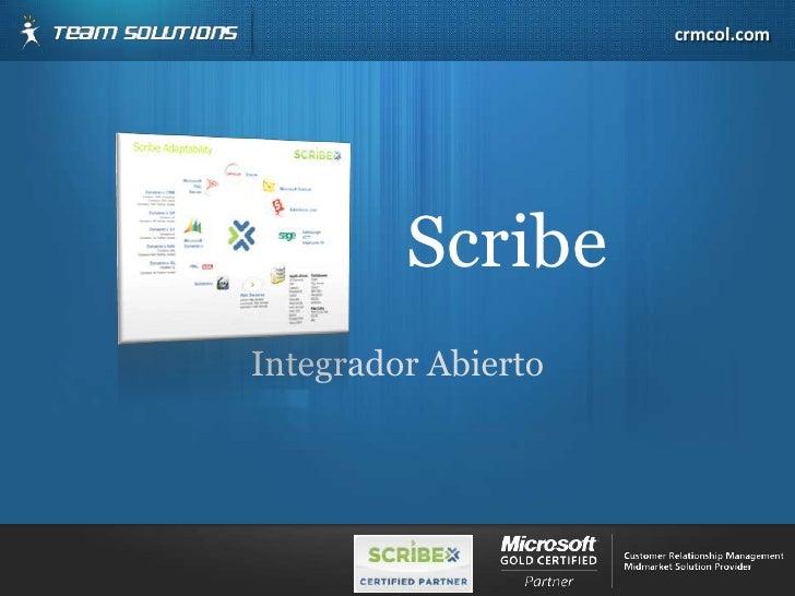 Integrador Abierto<br />Scribe<br />