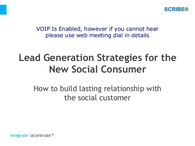 Lead Generation Strategies for the New Social Consumer