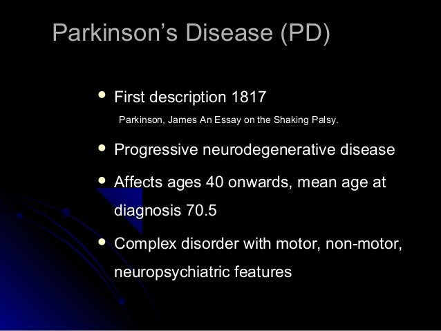 parkinsons disease essay paper