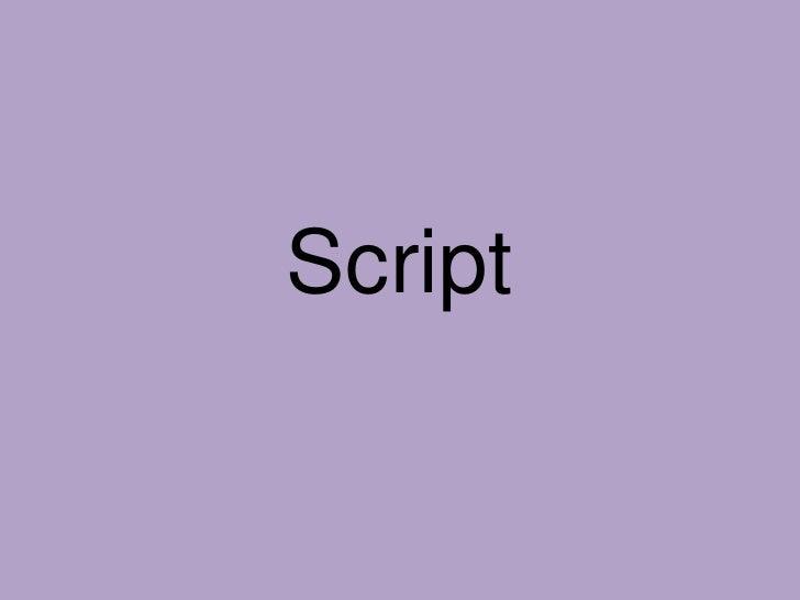 Script<br />