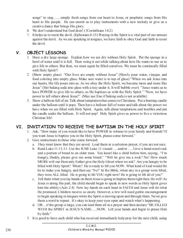 Holy Spirit Lesson Script
