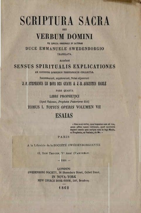 SCRIPTURA SACRA                 SEU            VERBUM DOMINI                    EX L1NGUA ORIGINAL! IN LAT1NAII    DUCE EM...