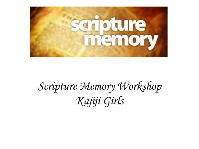 Scripture memory workshop