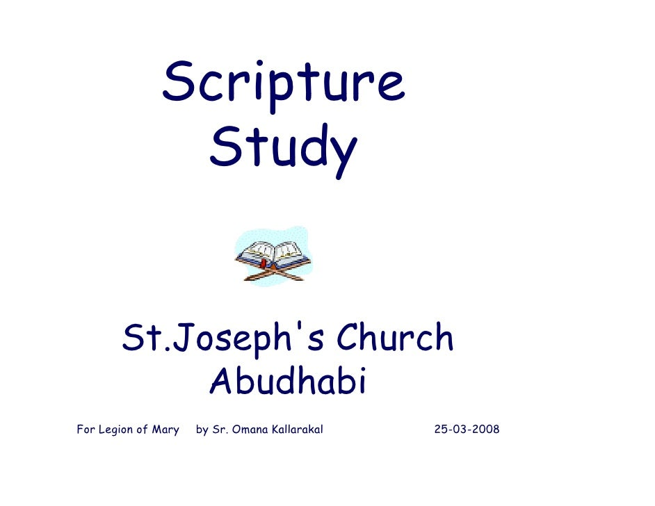 Scripture                Study          St.Joseph s        St.Joseph's Church             Abudhabi For Legion of Mary   by...