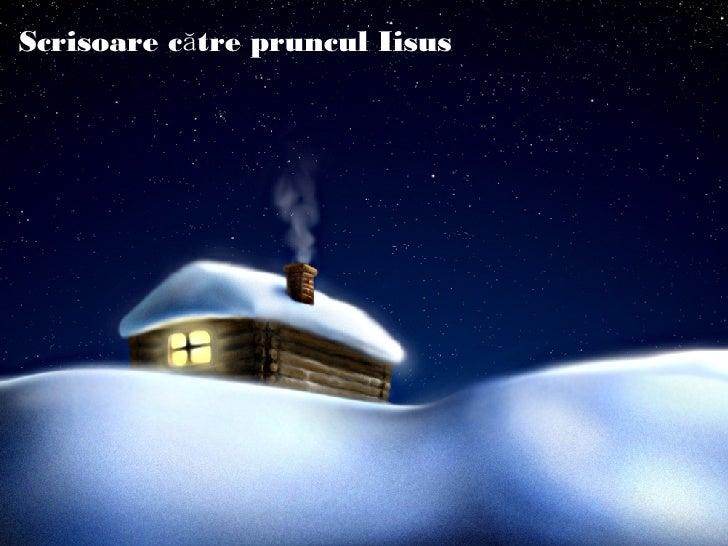 Scrisoare Catre Pruncul Isus