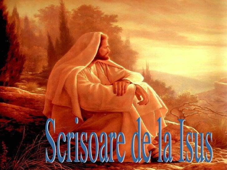 Scrisoare de la Isus