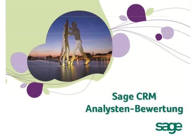 Sage CRM – Übersicht und Auszeichnungen der Analysten