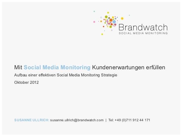 Mit Social Media Monitoring Kundenerwartungen erfüllen