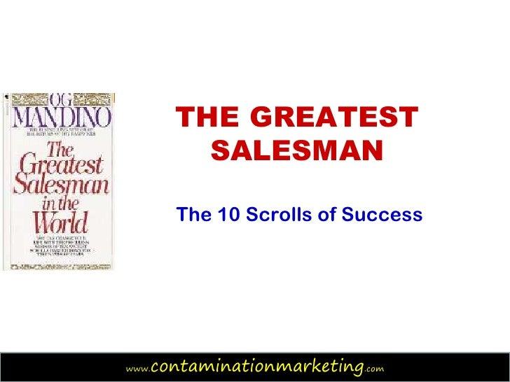 greatest salesman u0026 39 s 10 scrolls of success