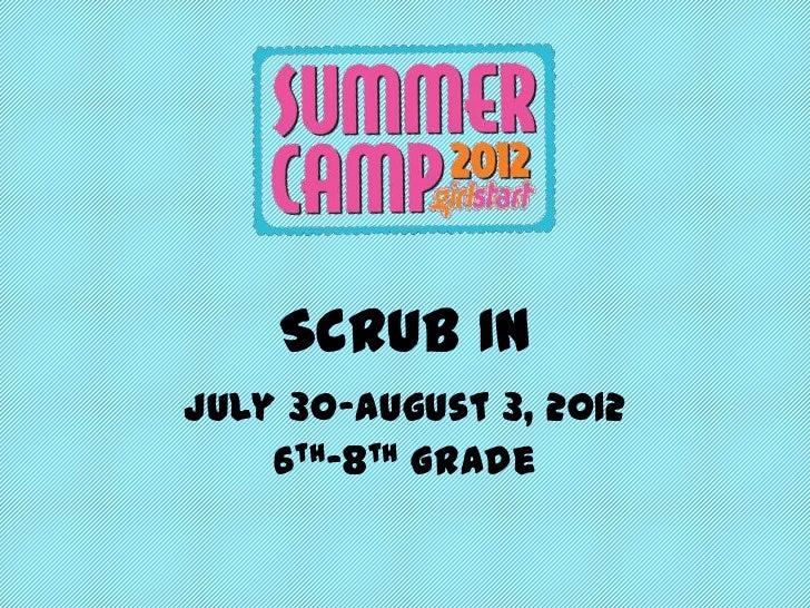 Girlstart Scrub In 6th-8th grade Week 2
