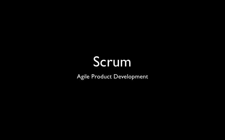 Scrum Agile Product Development