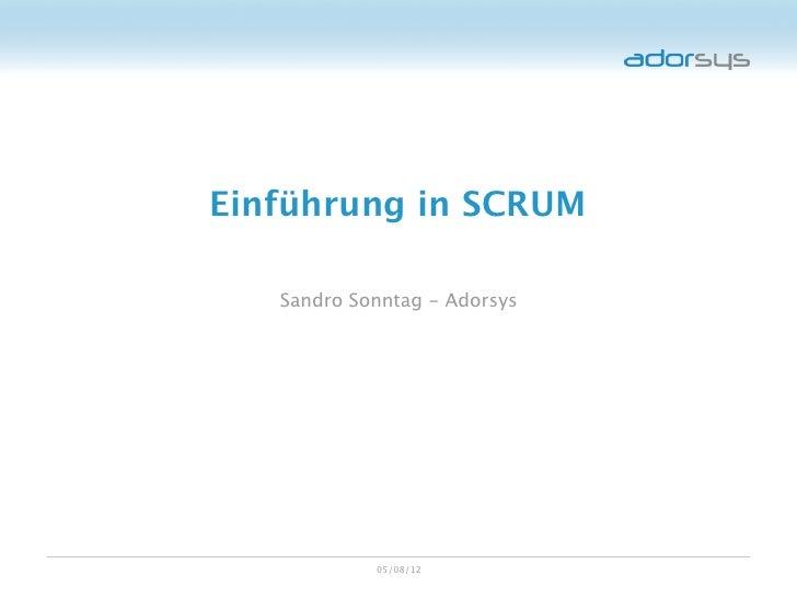 Einführung in SCRUM