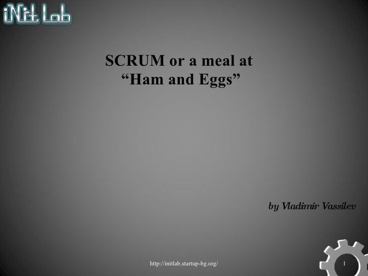 Brief intro to SCRUM